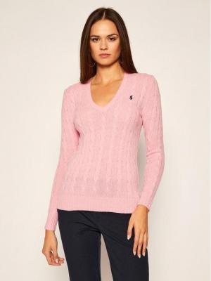 Polo Ralph Lauren Sweter Kimberly Wool/Cashmere 211508656065 Różowy Regular Fit