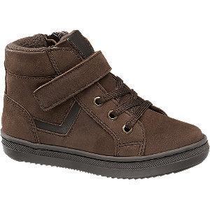 Brązowe ocieplane buciki chłopięce Bobbi-Shoes