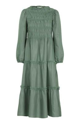 Cream D?uga sukienka zmarszczeniem Mockia zielony
