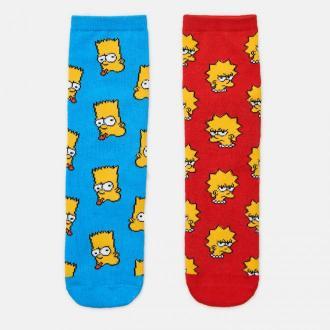 Cropp - 2 pack skarpet The Simpsons - Wielobarwny