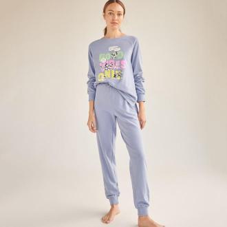 Reserved - Piżama ze spodniami Disney - Niebieski