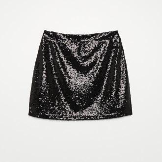 Cropp - Spódnica z cekinami - Czarny