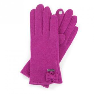 Damskie rękawiczki wełniane do smartfona