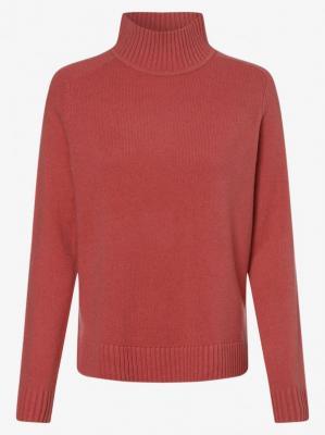 Marie Lund - Damski sweter z wełny merino, różowy