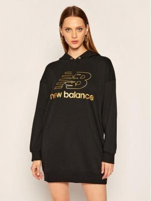 New Balance Sukienka dzianinowa Athletics Village WD03501 Czarny Regular Fit