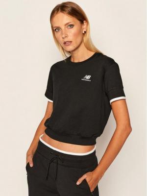 New Balance T-Shirt WT03506 Czarny Relaxed Fit