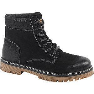 Skórzane trapery męskie Am Shoe w kolorze czarnym