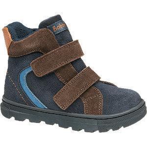 Granatowo-brązowe kozaczki chłopięce Bobbi-Shoes