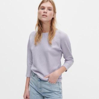 Reserved - Bawełniany sweter - Fioletowy