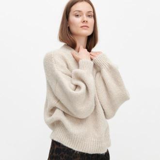 Reserved - Miękki sweter oversize - Beżowy