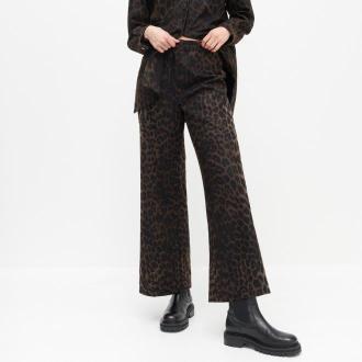 Reserved - Spodnie ze zwierzęcym printem - Wielobarwny