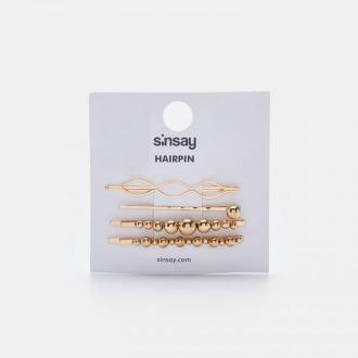 Sinsay - Wsuwki do włosów 4 pack - Złoty