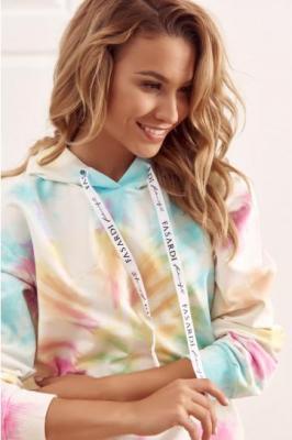 Kolorowa bluza z kapturem tie dye FI576