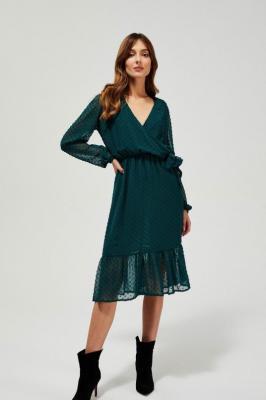 Sukienka w groszki z falbaną