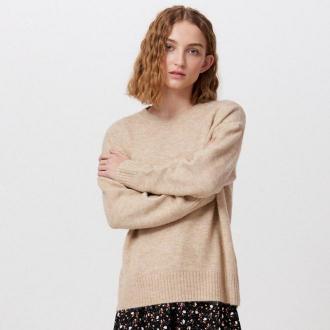 Cropp - Melanżowy sweter oversize - Beżowy