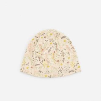 Reserved - Bawełniana czapka ze wzorem - Beżowy