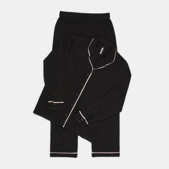Sinsay - Bawełniana piżama dwuczęściowa - Czarny