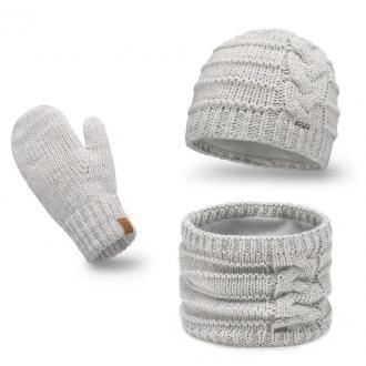 Zimowy komplet damski z rękawiczkami