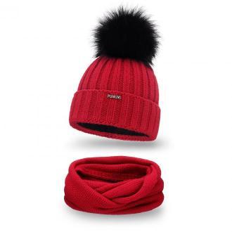 Zimowy komplet damski- czapka i komin