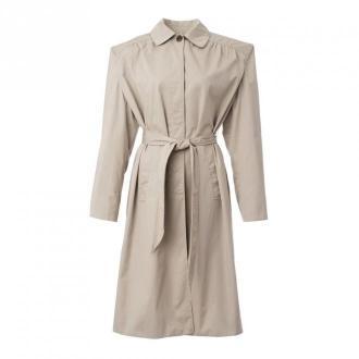 Balenciaga Trench Coat Płaszcze Beżowy Dorośli Kobiety Rozmiar: 36 FR
