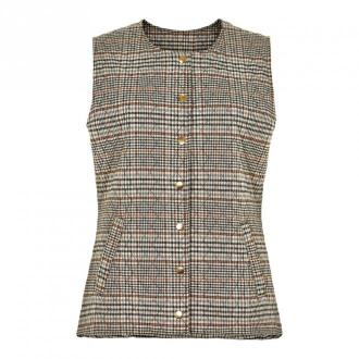 IN Front Lolo Quilt Vest 14171 Swetry i bluzy Brązowy Dorośli Kobiety
