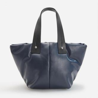 Reserved - Pikowana torebka shopper - Granatowy