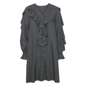 Karen by Simonsen DrawKB Sukienka Sukienki Szary Dorośli Kobiety