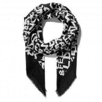 Chusta KARL LAGERFELD - 206W3306  Black/White 998