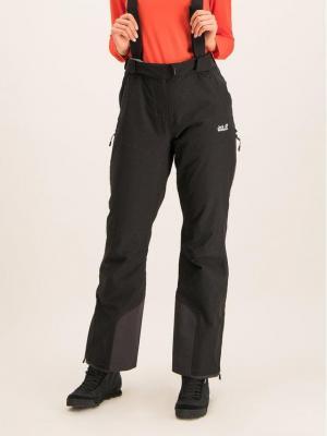 Jack Wolfskin Spodnie narciarskie Bridgeport 1111841-6000 Czarny Regular Fit