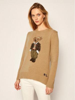 Polo Ralph Lauren Sweter Handla 211815102001 Brązowy Regular Fit