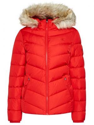 Calvin Klein Jeans Kurtka puchowa J20J215003 Czerwony Slim Fit