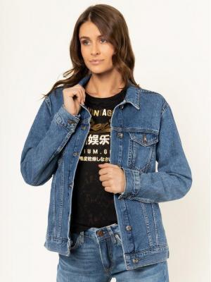 Superdry Kurtka jeansowa 90'S Denim W5000068A Granatowy Regular Fit