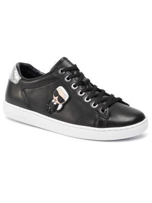 KARL LAGERFELD Sneakersy KL61230 Czarny