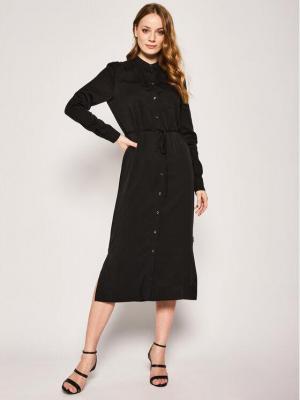 Calvin Klein Sukienka koszulowa Belted K20K201825 Czarny Regular Fit