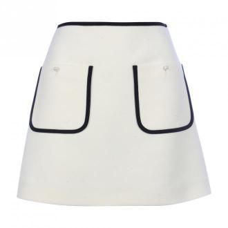 Miu Miu Wool Tricot Double Spódnice Biały Dorośli Kobiety Rozmiar: 42