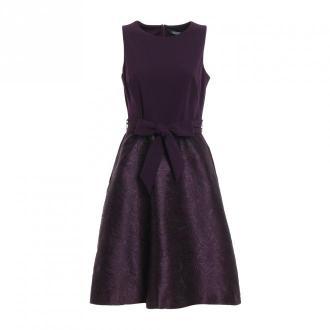 Ralph Lauren 253756526005 Sukienka Sukienki Fioletowy Dorośli Kobiety