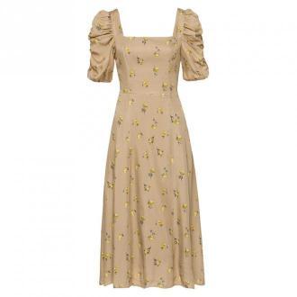 Ruffled Sleeved Dress