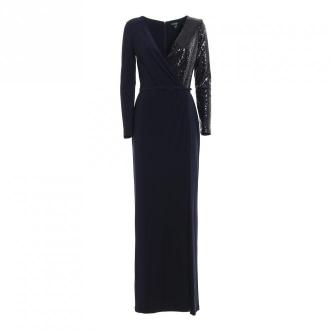 Ralph Lauren 253751493002 Sukienka Sukienki Niebieski Dorośli Kobiety