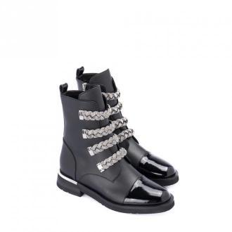 Baldinini Ankle boot with applications Obuwie Czarny Dorośli Kobiety