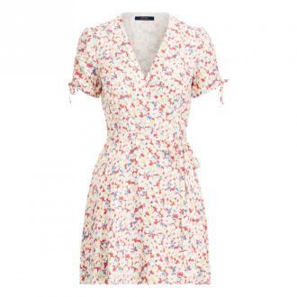 Polo Ralph Lauren Krótki rękaw Casual Sukienka Sukienki Różowy Dorośli