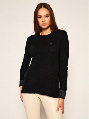 Calvin Klein Sweter Fluffy K20K202251 Czarny Regular Fit