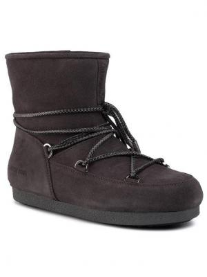 Moon Boot Śniegowce Mb Far Side Low Suede 24201500002 Szary