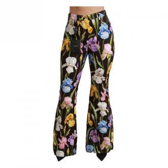 Dolce & Gabbana Flared wysoką talią Spodnie Spodnie Czarny Dorośli
