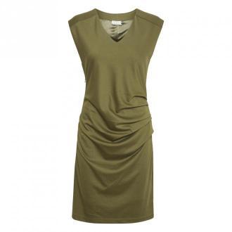 Kaffe Indie V-Neck Sukienka Sukienki Zielony Dorośli Kobiety Rozmiar: