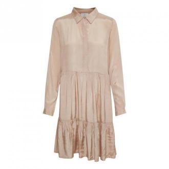 Kaffe KAdenike Sukienka Sukienki Beżowy Dorośli Kobiety Rozmiar: XL -
