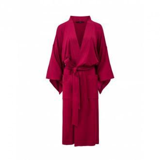 Agatinia Szlafrok kimonowy długi Bielizna nocna Czerwony Dorośli