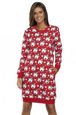 Italian Fashion Hati dł.r. Nocna koszula - czerwony