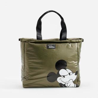 Reserved - Torba z recyklingowanego poliestru Mickey Mouse - Khaki