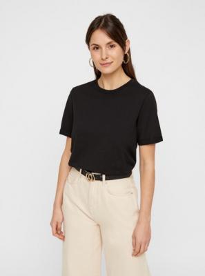 Czarna podstawowa koszulka Pieces Ria - XS