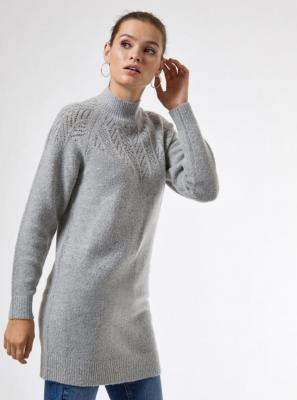 Szara sukienka sweterkowa Dorothy Perkins - XS